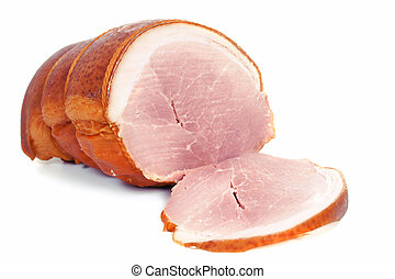 Tasty ham - Fresh tasty polish ham with fat
