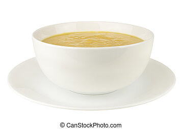 Pea Soup on a White Background