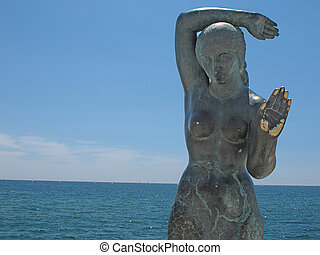 sitges statue - Mermaid sculpture
