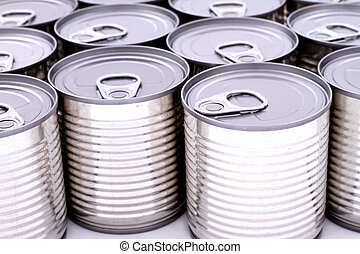 Cans - A group of cans isolated background
