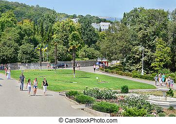 Livadia Park. Landscaping. Yalta. - Livadia Palace and Park...