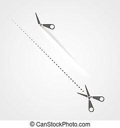 Cutting scissors template