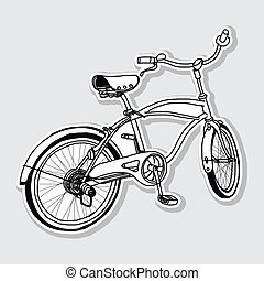 Bicycle hand-drawn