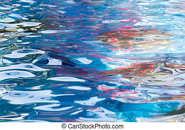 Abstract background of water in the pool