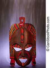 Black Magic - Tradional mask from Kenya made of wood with...