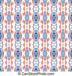 Geometric pattern with Scandinavian ethnic motifs