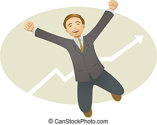 happy businessman - A vector illustration of happy...