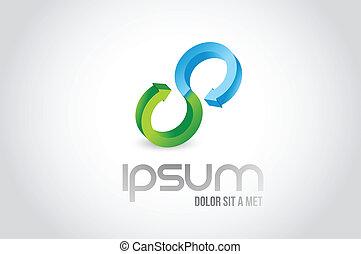 teamwork link logo symbol illustration design over white