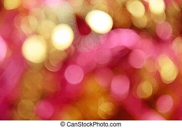 Christmas bokeh - Christmas shiny bokeh in yellow and red...