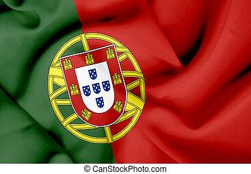 Portugal waving flag