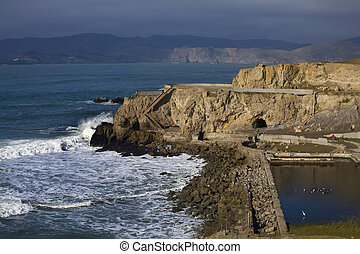 Point Lobo San Francisco - Point Lobos Seal Rocks Entrance...