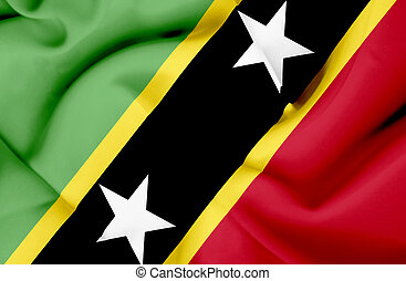St Kitts and Nevis waving flag