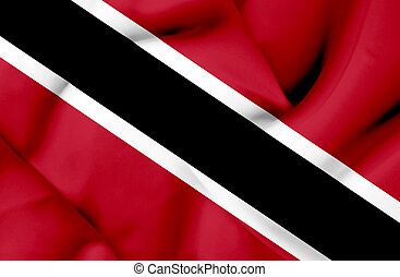 Trinidad and Tobago waving flag