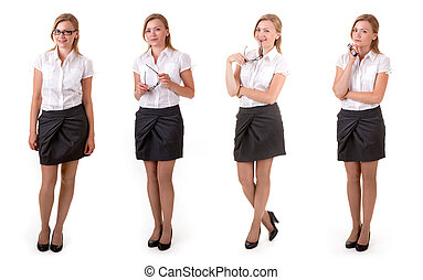 variants of business lady - Confident business woman...