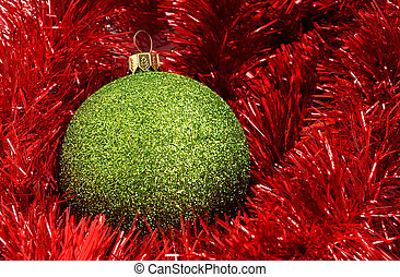 Cristmas decorations - Cristmas holiday decor with green...