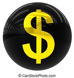 ball with the dollar symbol