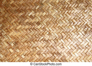 weaving pieces of bamboo house wall background and texture