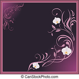 Sprig with orchids. Frame