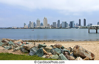 San Diego skyline California.