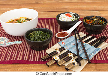 Composition of asian food
