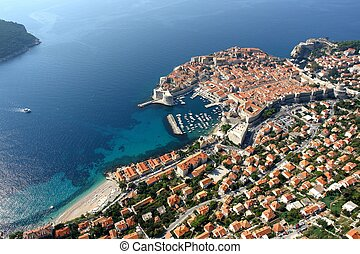 Dubrovnik - Aerial photo of the town Dubrovnik in Croatia