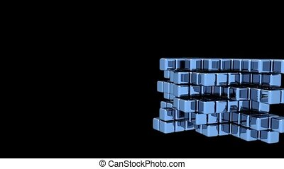 Blue Cubes - Assembly - Animation