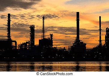 Silhouette Bangkok Oil refinery