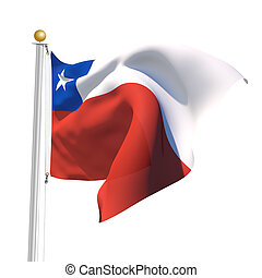 Chile - 3D Generated flag of Chile