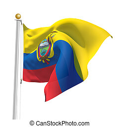Ecuador - 3D Generated flag of Ecuador
