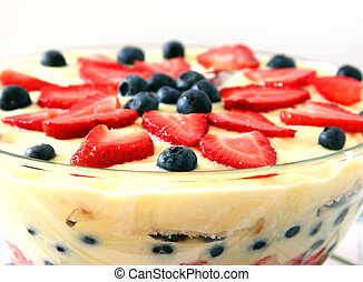 English Trifle - A delicious dessert with layers of cake and...