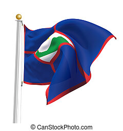 Sint Eustatius - 3D Generated flag of Sint Eustatius