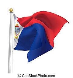 Sint Maarten - 3D Generated flag of Sint Maarten