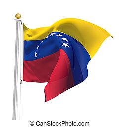Venezuela - 3D Generated flag of Venezuela