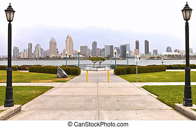 San Diego skyline California - San Diego skyline from...