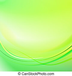 Green light lines background.  illustration