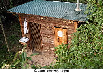 Luxury Outhouse - A luxurious outhouse bathroom in the woods...