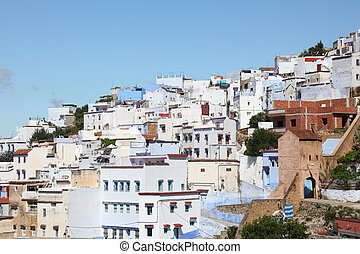 Colorful town Chefchaouen in Morocco
