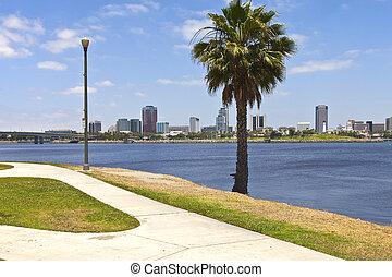 Long Beach California. - Long Beach California from across...