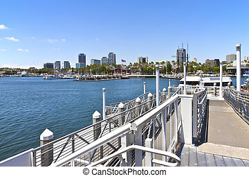 Long Beach California - long Beach California from a pier...