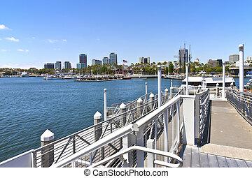 Long Beach California. - long Beach California from a pier...