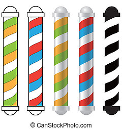 barber shop pole - five barber shop pole icons