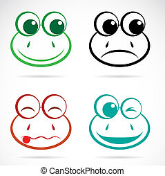 Vector image of an frog face