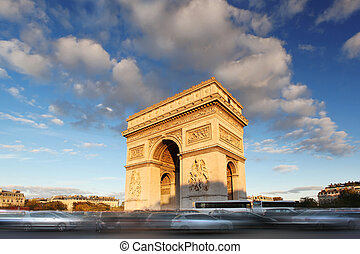 Arc de Triumph in Paris, France - Famous Arc de Triumph in...