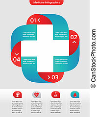 Medical and healthcare background, infographic - Medical and...