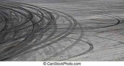 Tire marks - Background with tire marks on road track