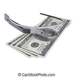 Google Glass and dollars - Google Glass and three hundred...