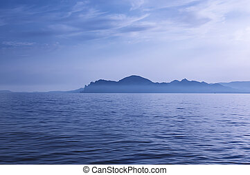 Evening sea landscape