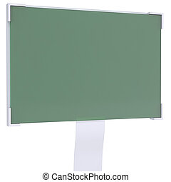 Liquid crystal display Isolated render on a white background...