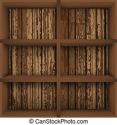 Bookcase - Vector illustarion with  empty bokkshelves