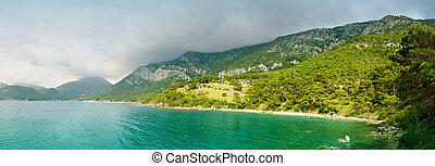 Panoramic view of the sea bay - Panoramic view of the Turkey...